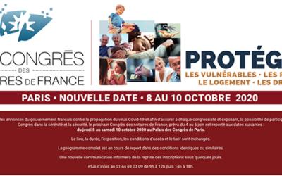Nouvelle date ! Not'Courrier au congrès des notaires du 8 au 10 octobre 2020 à Paris